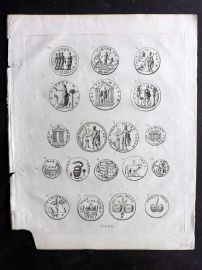 Wells 1817 Anique Coin Print. Tyre, Holy Land